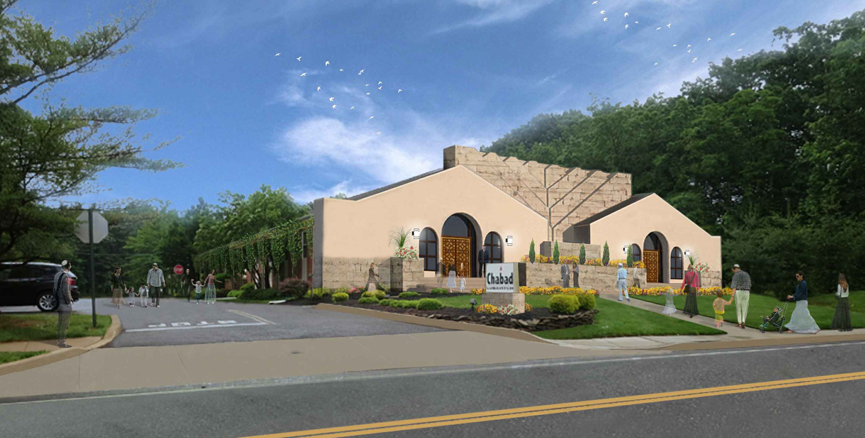 Chabad Center Rendering